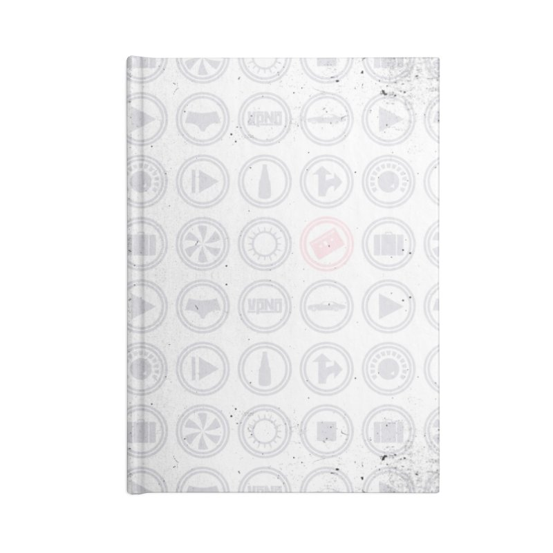 YGWY$4 Icon Pattern Accessories Lined Journal Notebook by Tanya Morgan's Merch Shop