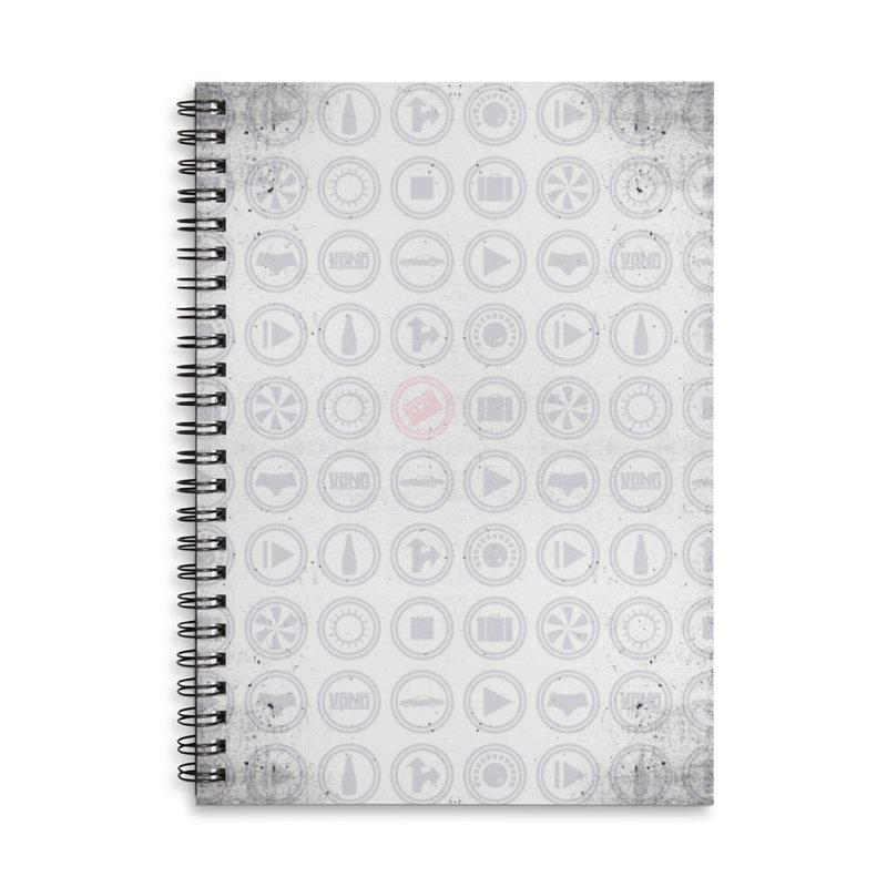 YGWY$4 Icon Pattern Accessories Lined Spiral Notebook by Tanya Morgan's Merch Shop