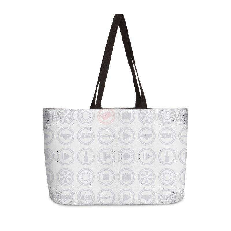 YGWY$4 Icon Pattern Accessories Weekender Bag Bag by Tanya Morgan's Merch Shop