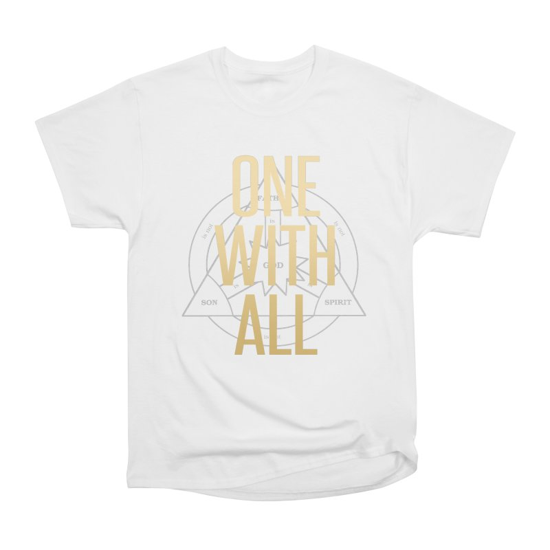 ONE WITH ALL in Men's Heavyweight T-Shirt White by tapintunein's Artist Shop