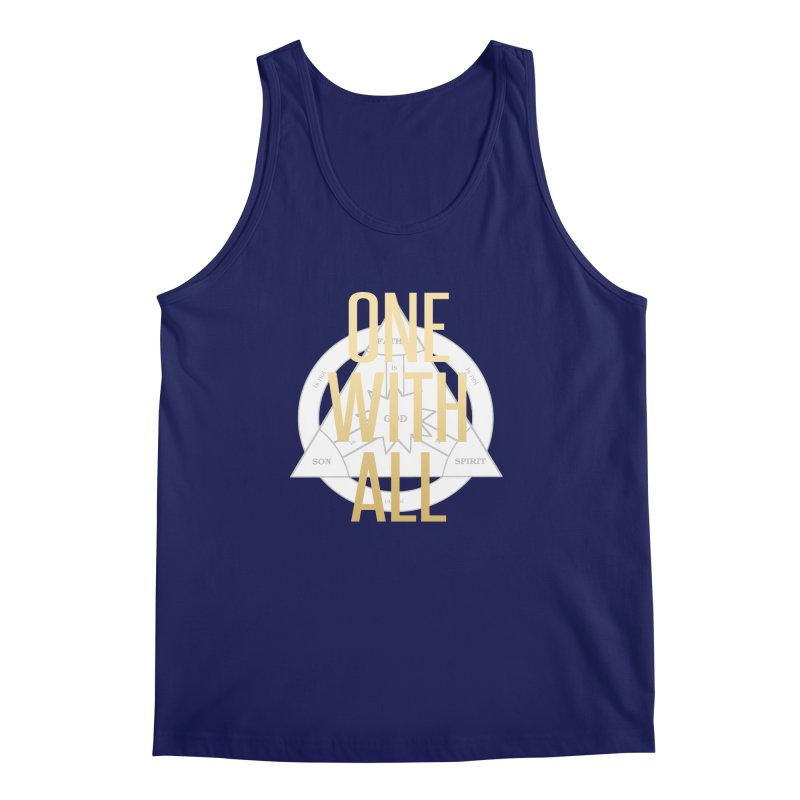 ONE WITH ALL Men's Regular Tank by tapintunein's Artist Shop