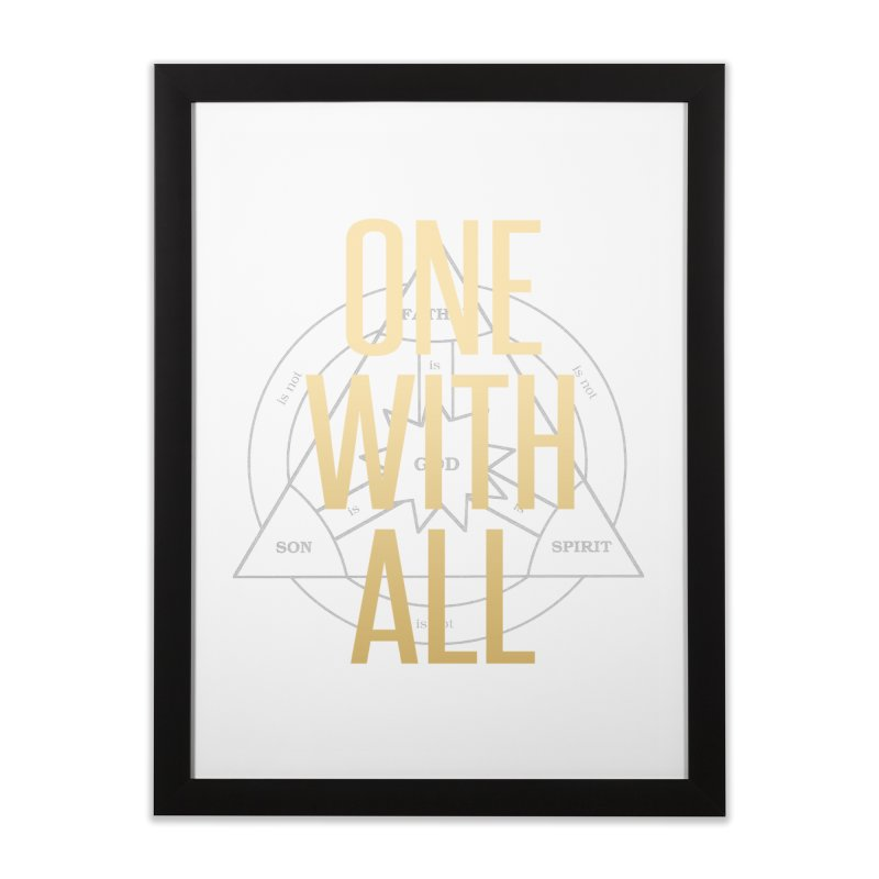 ONE WITH ALL Home Framed Fine Art Print by tapintunein's Artist Shop