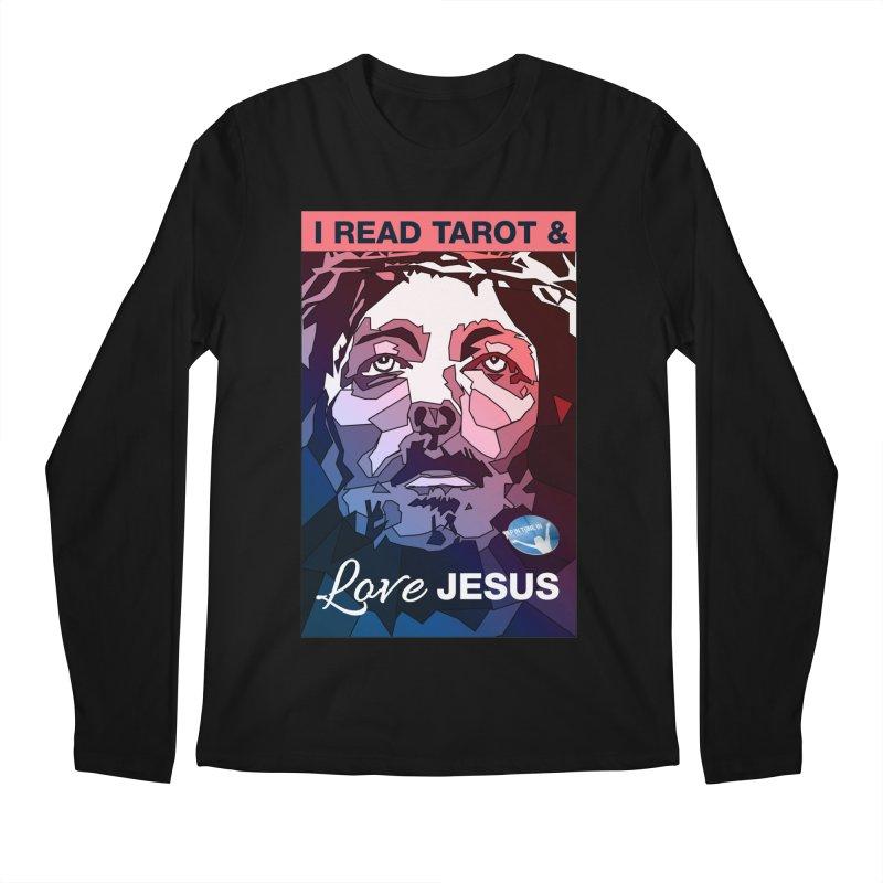 I read tarot & love Jesus Men's Regular Longsleeve T-Shirt by tapintunein's Artist Shop