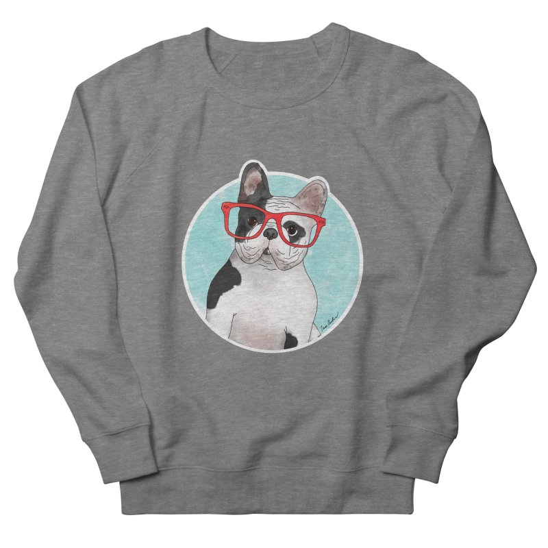 Beau the French Bulldog Men's French Terry Sweatshirt by Tara Joy Andrews