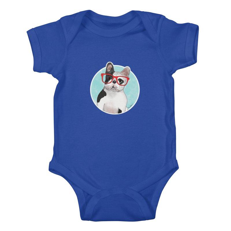 Beau the French Bulldog Kids Baby Bodysuit by Tara Joy Andrews