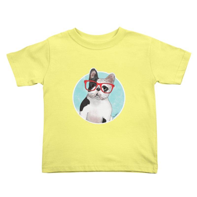 Beau the French Bulldog Kids Toddler T-Shirt by Tara Joy Andrews