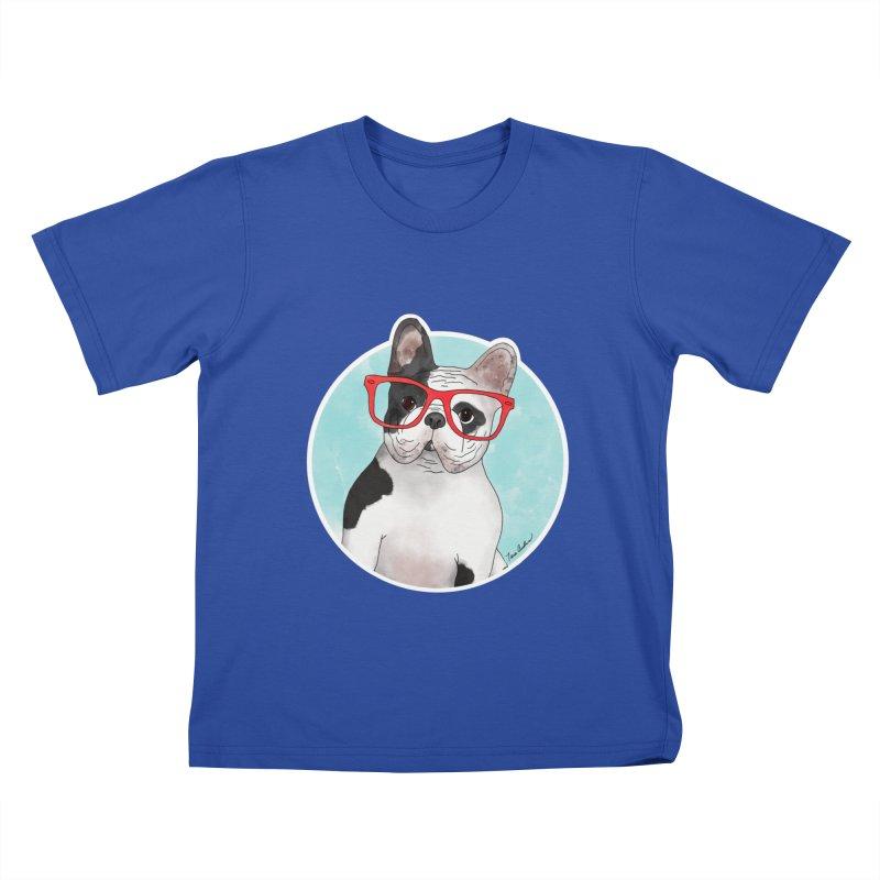 Beau the French Bulldog Kids T-Shirt by Tara Joy Andrews
