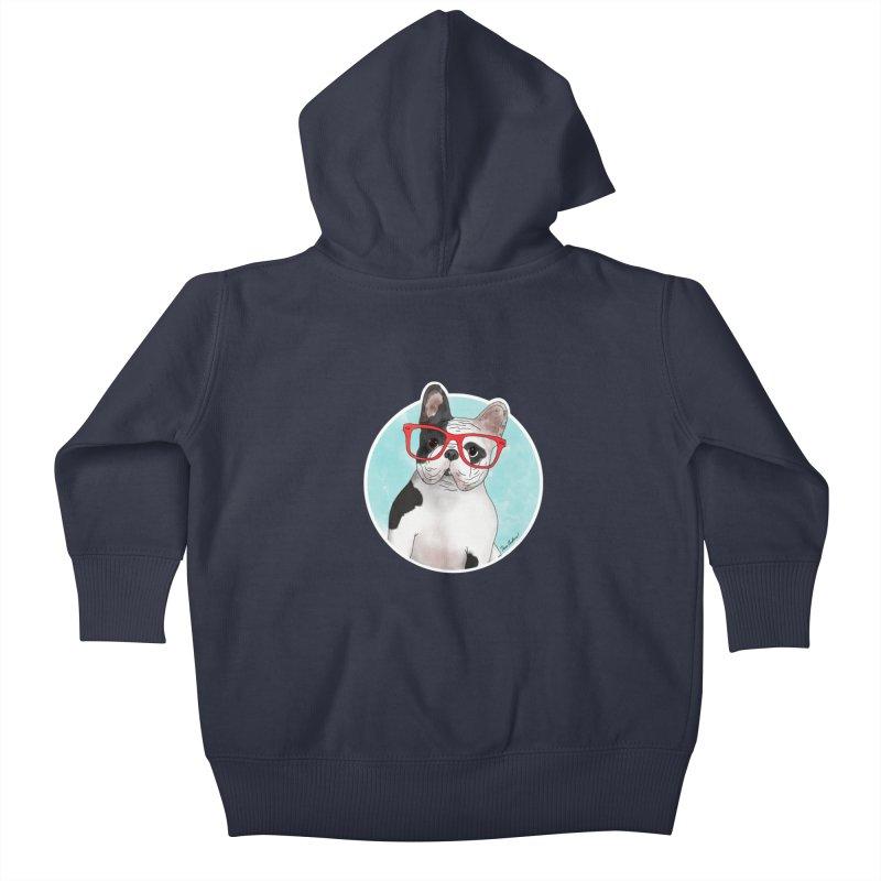 Beau the French Bulldog Kids Baby Zip-Up Hoody by Tara Joy Andrews