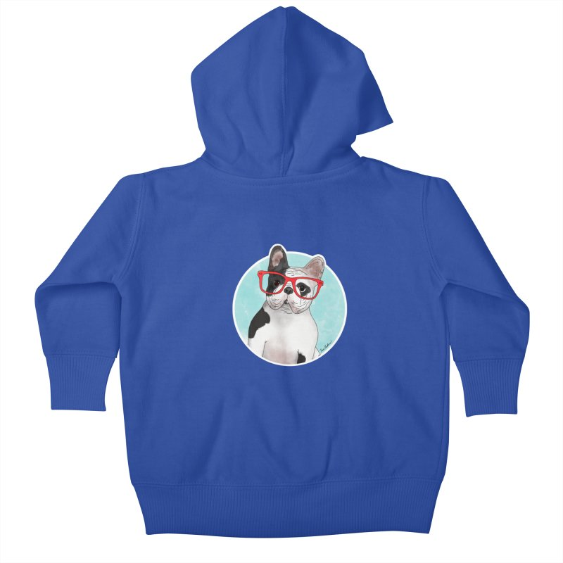 Beau the French Bulldog Kids Baby Zip-Up Hoody by Tara Joy Andrews