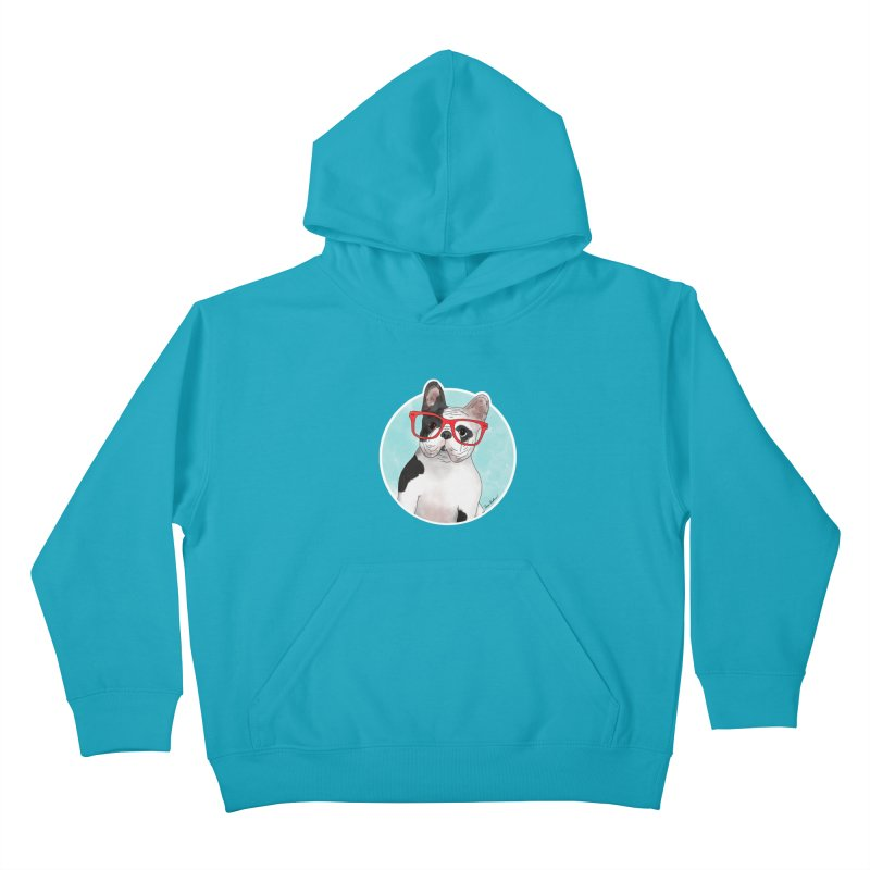 Beau the French Bulldog Kids Pullover Hoody by Tara Joy Andrews