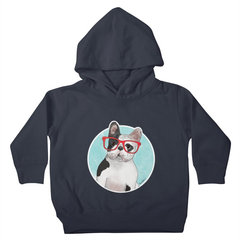 Beau the French Bulldog Kids Toddler Pullover Hoody by Tara Joy Andrews