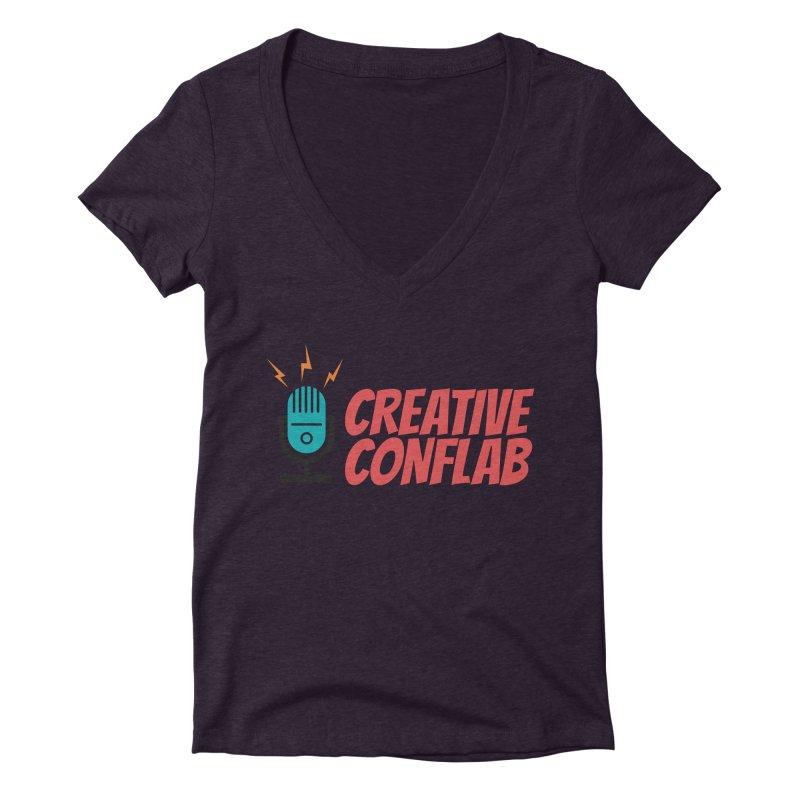 Creative Conflab podcast swag Women's V-Neck by Tara Joy Andrews