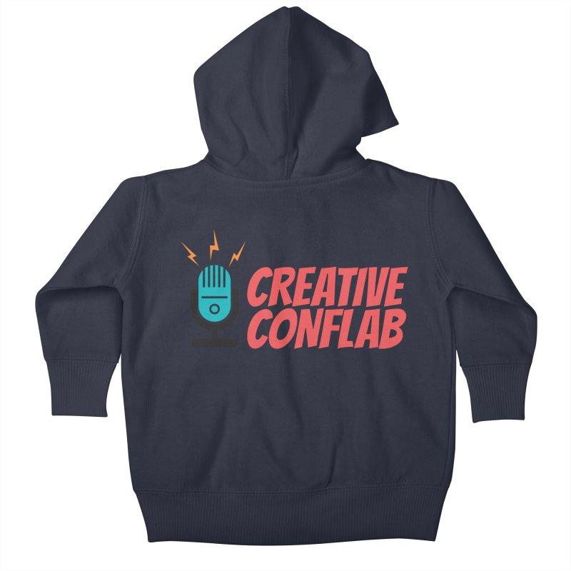 Creative Conflab podcast swag Kids Baby Zip-Up Hoody by Tara Joy Andrews