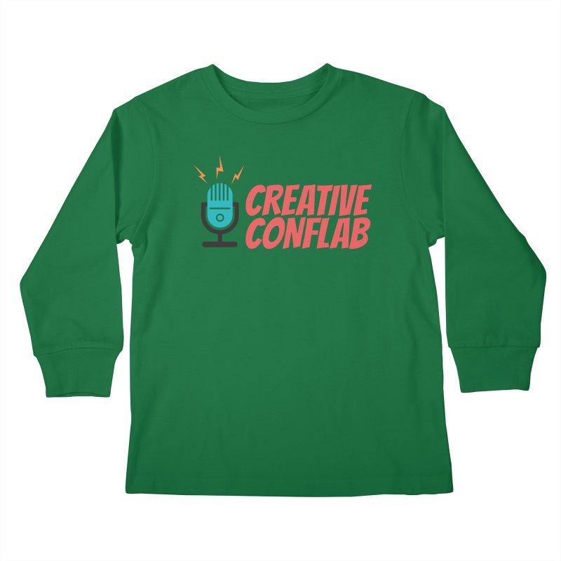 Creative Conflab podcast swag Kids Longsleeve T-Shirt by Tara Joy Andrews