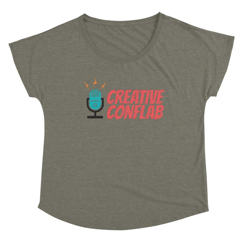 Creative Conflab podcast swag Women's Scoop Neck by Tara Joy Andrews