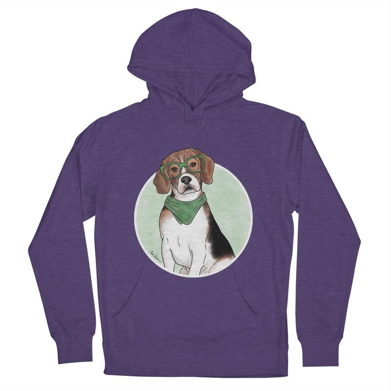 Blake the Beagle Men's French Terry Pullover Hoody by Tara Joy Andrews