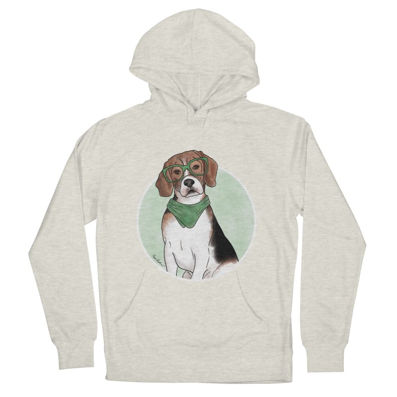 Blake the Beagle Men's French Terry Pullover Hoody by Tara Joy Andrews