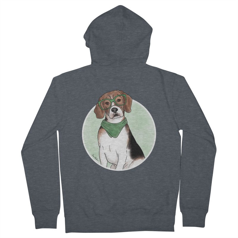 Blake the Beagle Women's French Terry Zip-Up Hoody by Tara Joy Andrews