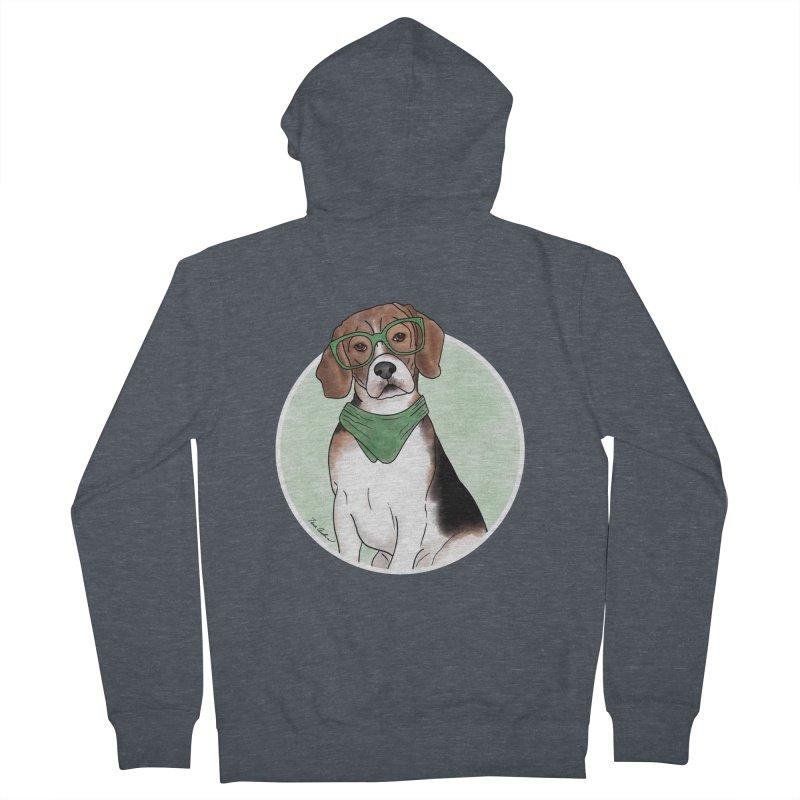 Blake the Beagle Men's French Terry Zip-Up Hoody by Tara Joy Andrews