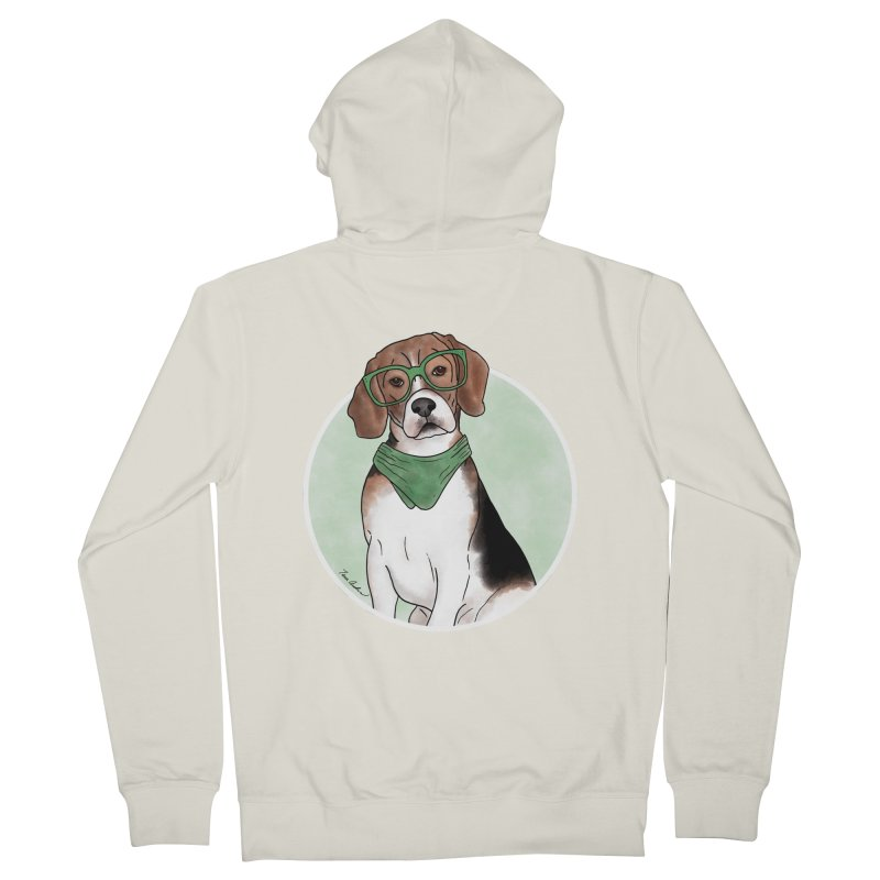 Blake the Beagle Men's French Terry Zip-Up Hoody by Tara Joy Andrews