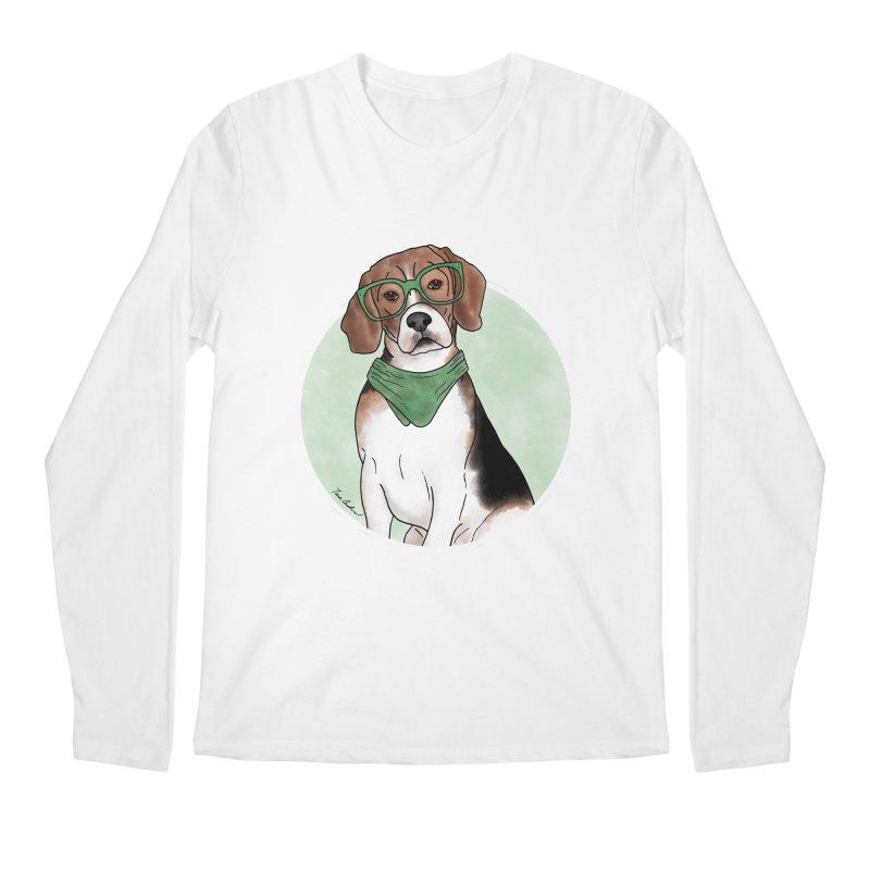 Blake the Beagle Men's Regular Longsleeve T-Shirt by Tara Joy Andrews