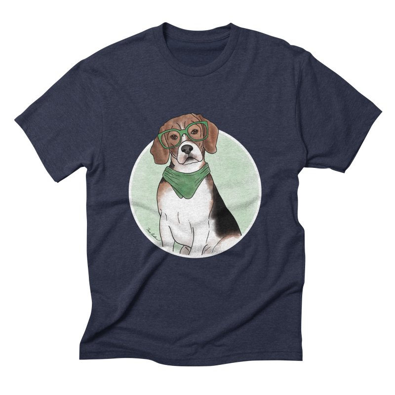 Blake the Beagle Men's Triblend T-Shirt by Tara Joy Andrews