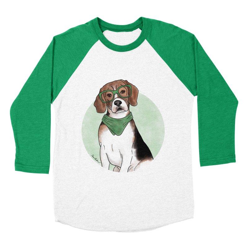 Blake the Beagle Women's Baseball Triblend Longsleeve T-Shirt by Tara Joy Andrews