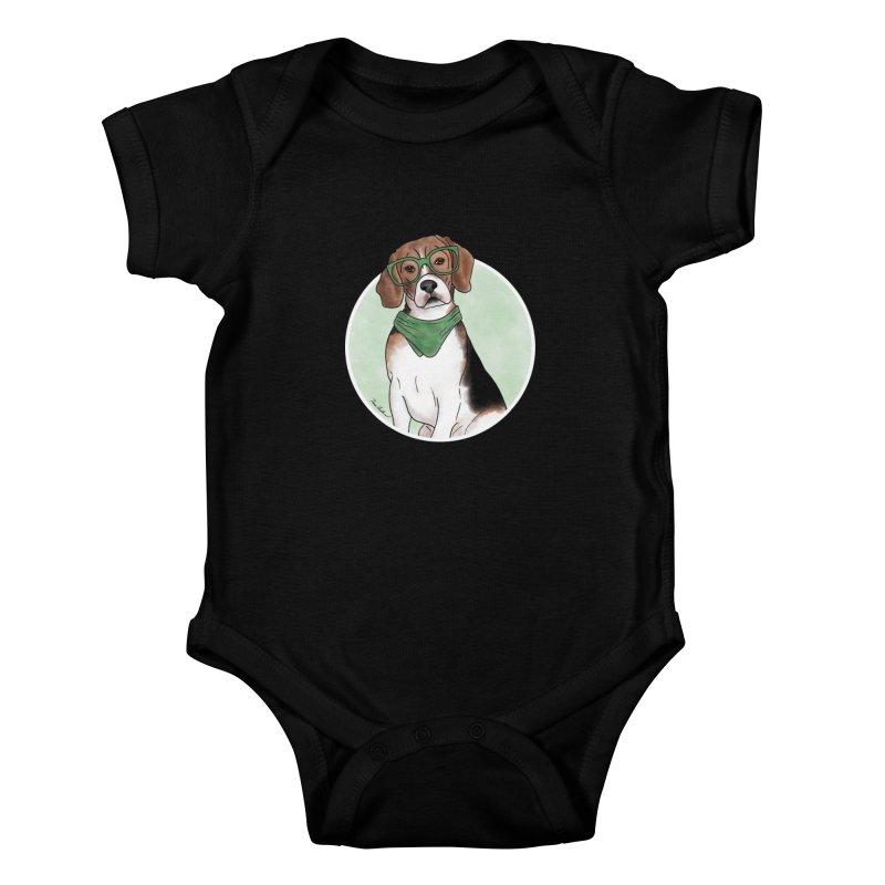 Blake the Beagle Kids Baby Bodysuit by Tara Joy Andrews