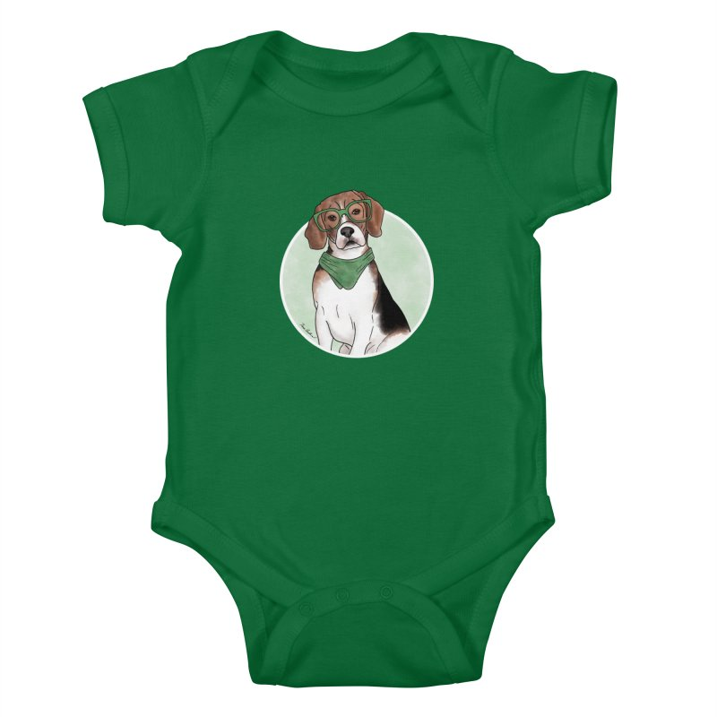 Blake the Beagle Kids Baby Bodysuit by Tara Joy Andrews