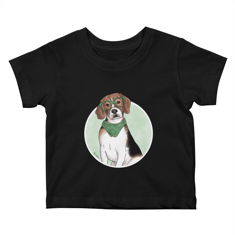 Blake the Beagle Kids Baby T-Shirt by Tara Joy Andrews