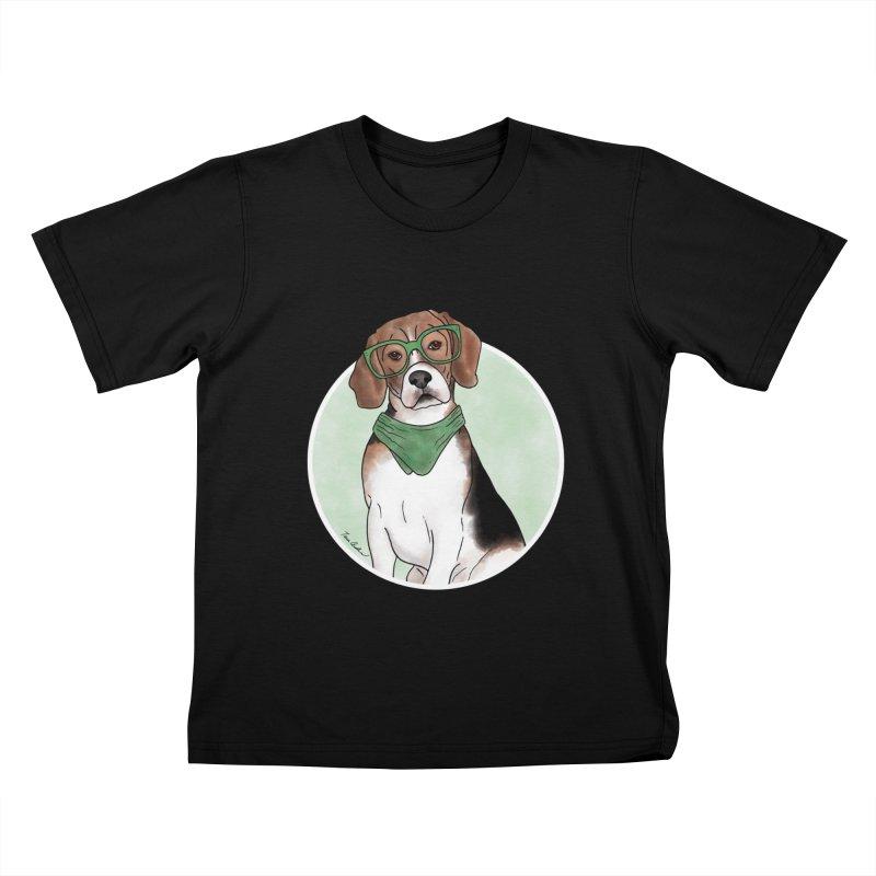 Blake the Beagle Kids T-Shirt by Tara Joy Andrews