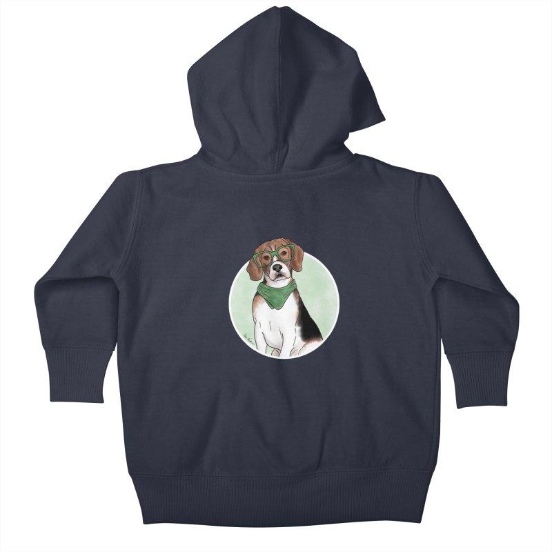 Blake the Beagle Kids Baby Zip-Up Hoody by Tara Joy Andrews