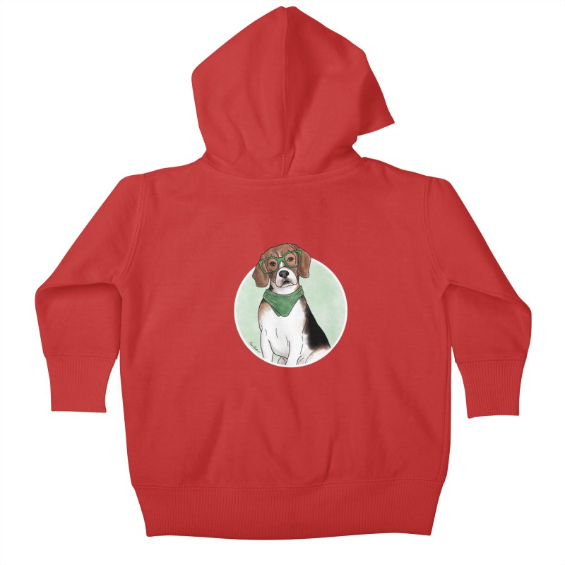 Blake the Beagle Kids Baby Zip-Up Hoody by Tara Joy Andrews