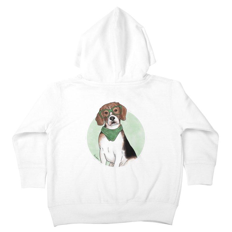 Blake the Beagle Kids Toddler Zip-Up Hoody by Tara Joy Andrews