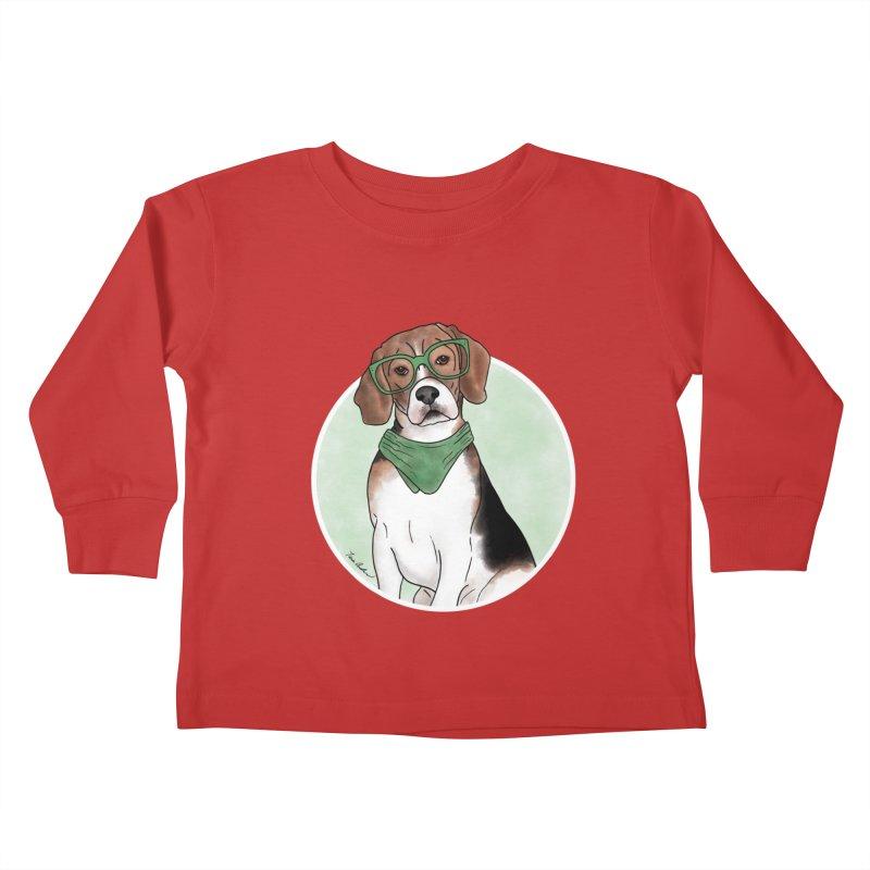 Blake the Beagle Kids Toddler Longsleeve T-Shirt by Tara Joy Andrews