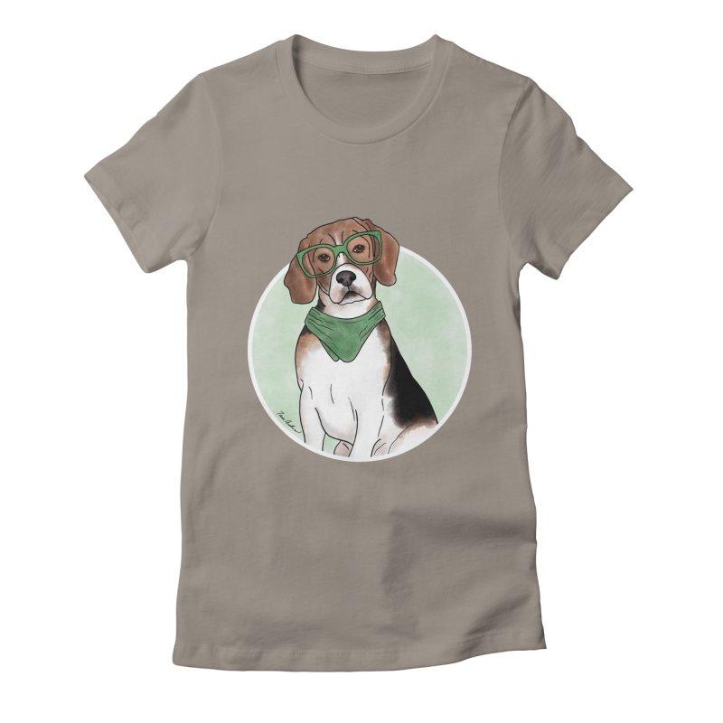 Blake the Beagle Women's Fitted T-Shirt by Tara Joy Andrews