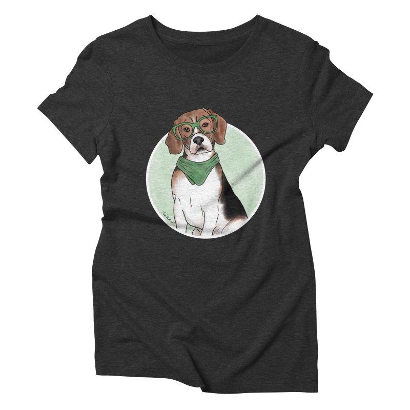 Blake the Beagle Women's Triblend T-Shirt by Tara Joy Andrews