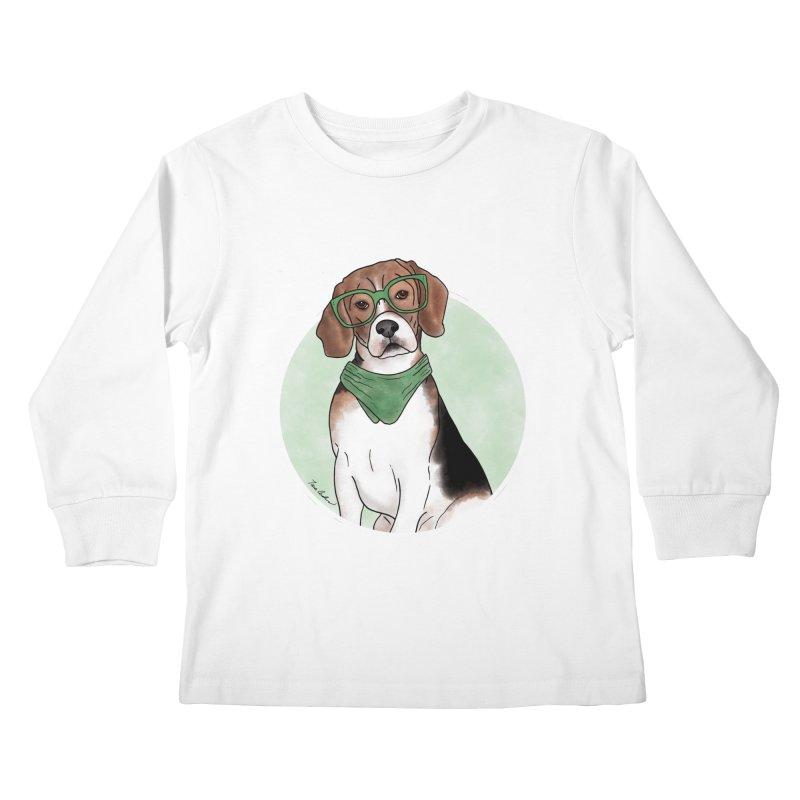 Blake the Beagle Kids Longsleeve T-Shirt by Tara Joy Andrews