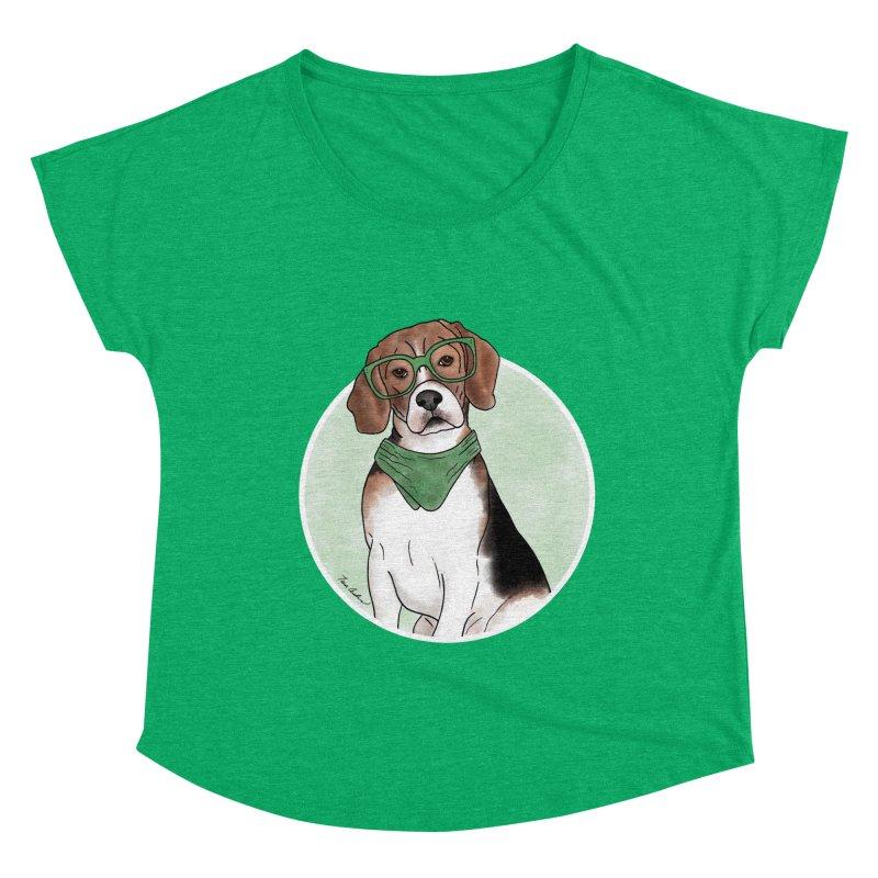 Blake the Beagle Women's Scoop Neck by Tara Joy Andrews