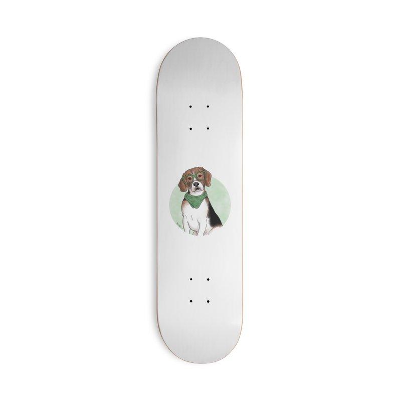Blake the Beagle Accessories Skateboard by Tara Joy Andrews