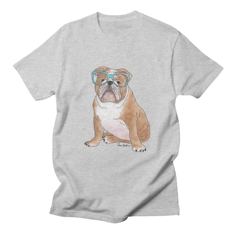 Bruiser the English Bulldog Men's T-Shirt by Tara Joy Andrews
