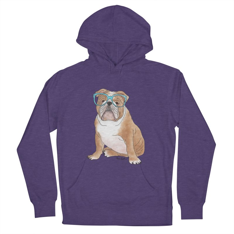 Bruiser the English Bulldog Women's French Terry Pullover Hoody by Tara Joy Andrews