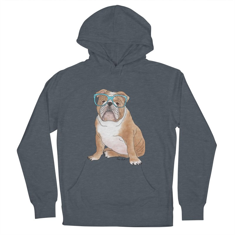 Bruiser the English Bulldog Men's French Terry Pullover Hoody by Tara Joy Andrews