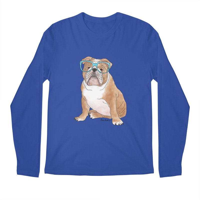 Bruiser the English Bulldog Men's Regular Longsleeve T-Shirt by Tara Joy Andrews