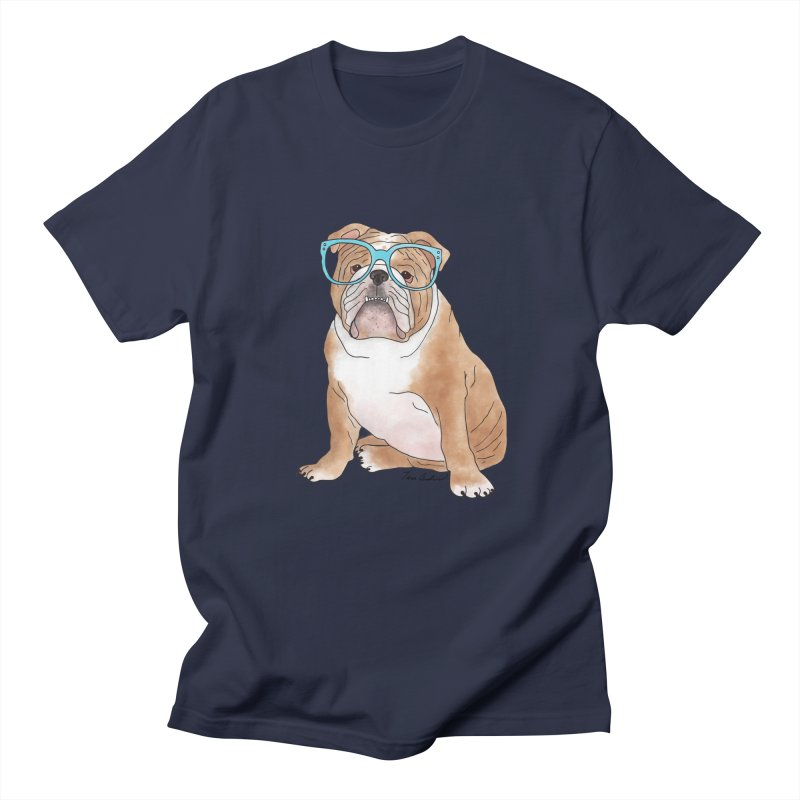 Bruiser the English Bulldog Men's Regular T-Shirt by Tara Joy Andrews