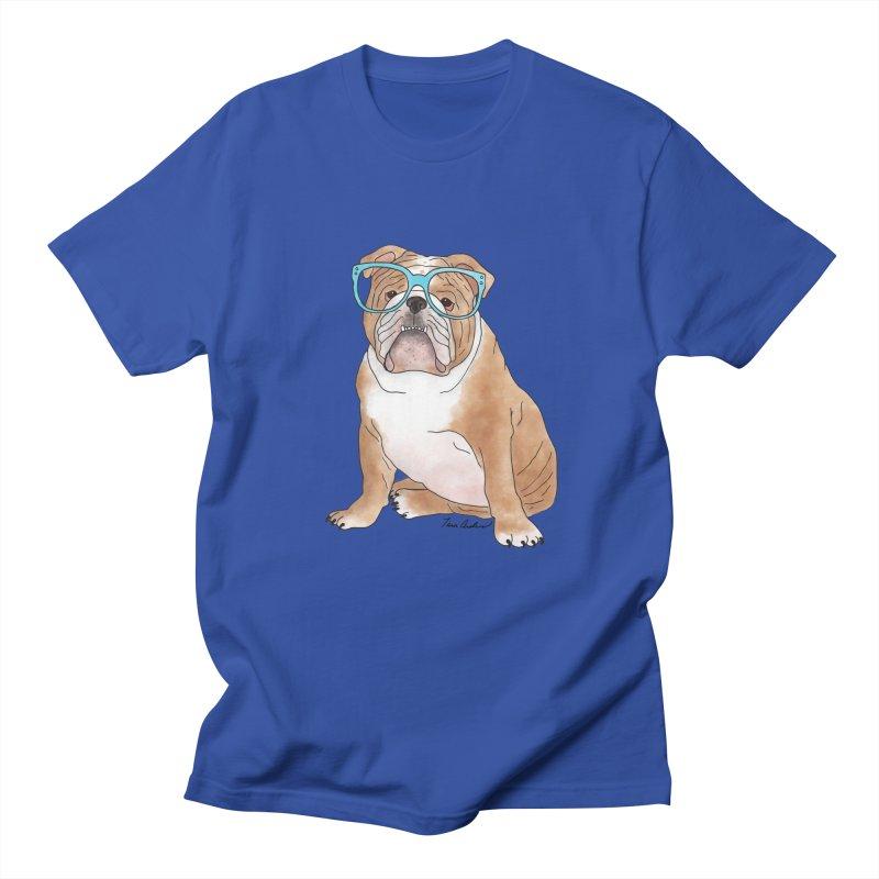 Bruiser the English Bulldog Men's Regular T-Shirt by Tara Joy Andrews