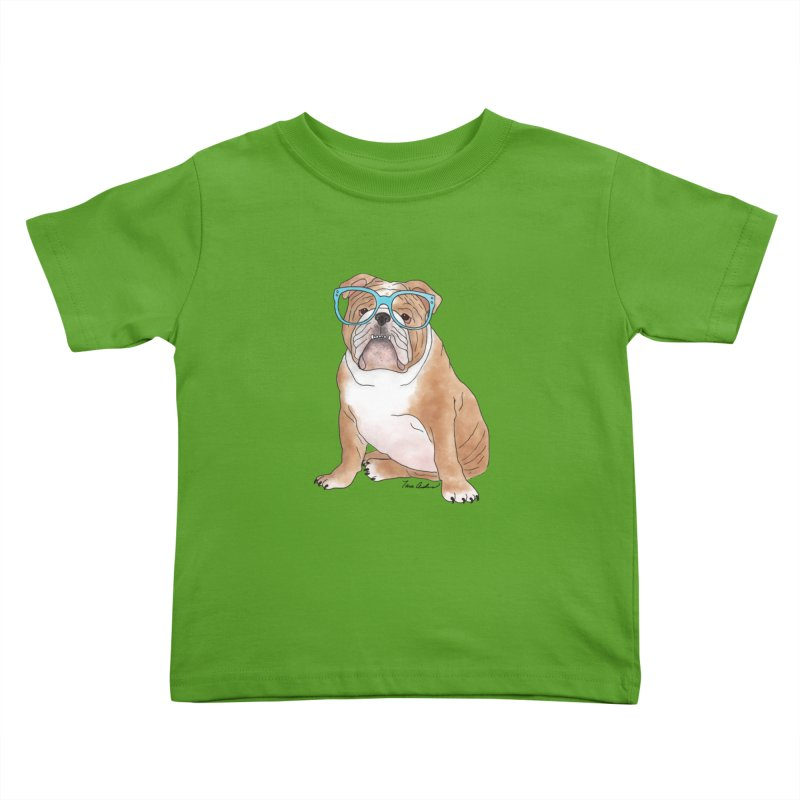 Bruiser the English Bulldog Kids Toddler T-Shirt by Tara Joy Andrews