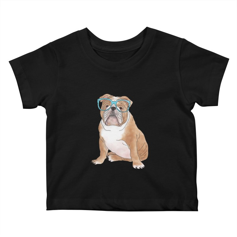 Bruiser the English Bulldog Kids Baby T-Shirt by Tara Joy Andrews