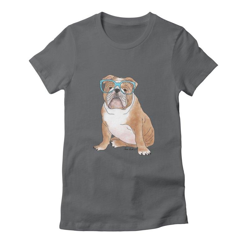 Bruiser the English Bulldog Women's T-Shirt by Tara Joy Andrews