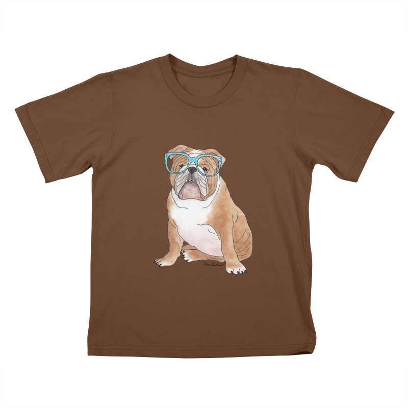 Bruiser the English Bulldog Kids T-Shirt by Tara Joy Andrews